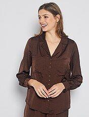 camisa mujer tonos marrones
