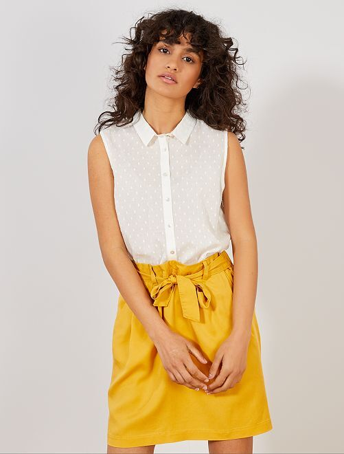 Blusa sin mangas                     blanco nieve Mujer talla 34 a 48