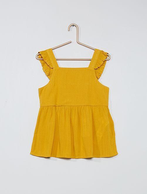 Blusa vaporosa                                                                 amarillo bronce