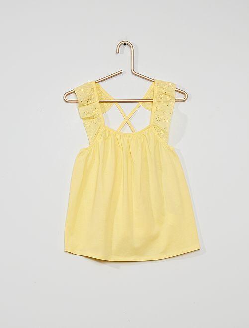 Blusa vaporosa                                                                             amarillo suave