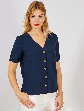 ea1dbea4c8 Mujer talla 34 a 48 - Blusa vaporosa con botones - Kiabi