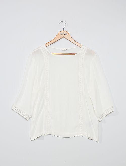 Blusa vaporosa 'JDY'                             blanco