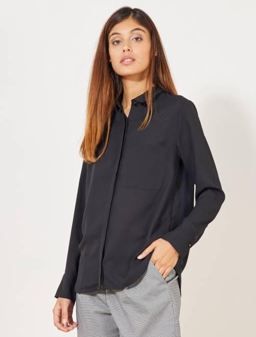 Blusa vaporosa                     negro Mujer talla 34 a 48