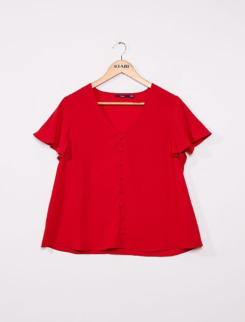 Blusa vaporosa                                                     rojo