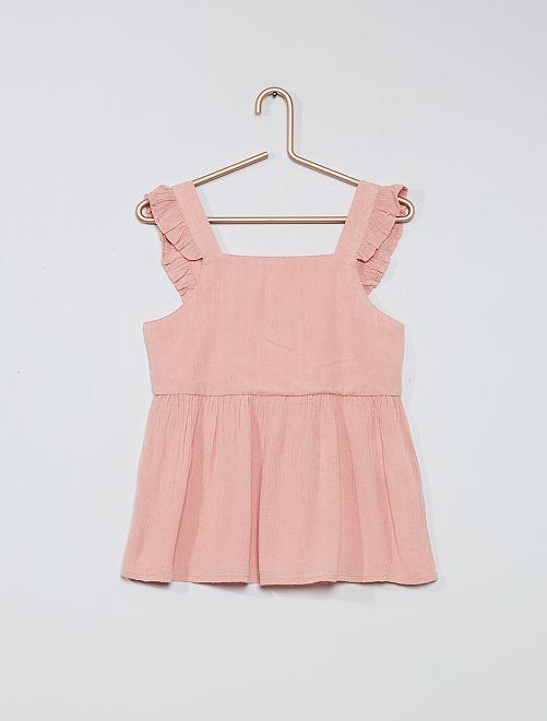 Blusa vaporosa                                                                 rosa