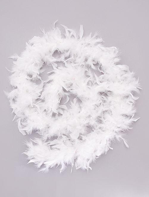 Boa de plumas                                             blanco