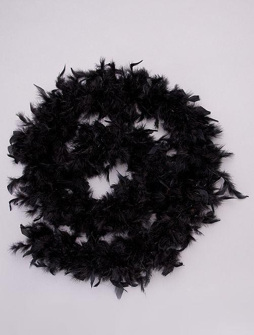 Boa de plumas                                                                 negro