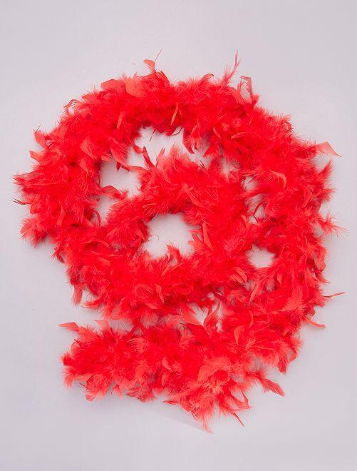 Boa de plumas                                                                 rojo