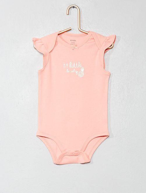 Body con volantes en las mangas                                                                 ROSA Bebé niña