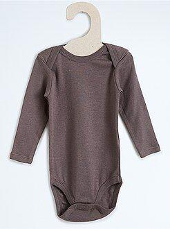 Niño 0-24 meses Body de algodón puro de manga larga