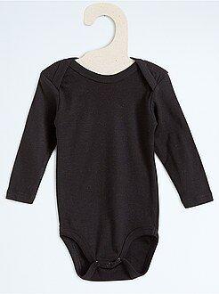 Niña 0-24 meses Body de algodón puro de manga larga