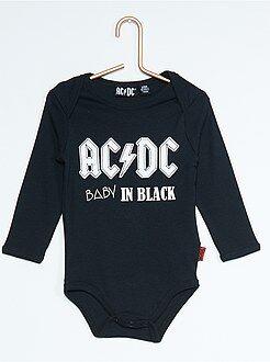 Niño 0-36 meses Body estampado 'ACDC'