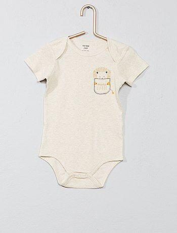 63ccf46b7 Niño 0-36 meses - Body estampado con cuello americano - Kiabi Encontrar en  tienda