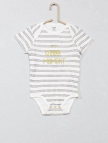 a3be2e27f Niño 0-36 meses - Body estampado con cuello americano - Kiabi
