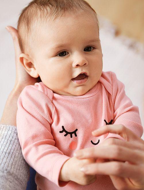 Body estampado de algodón orgánico                                                                                         AMARILLO Bebé niña