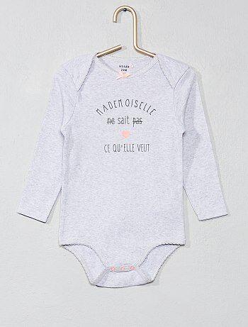 Niña 0-36 meses - Body estampado de algodón puro - Kiabi ce70556205b2