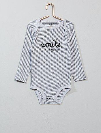 Niño 0-36 meses - Body estampado de algodón puro - Kiabi 4054ec6d7aa5