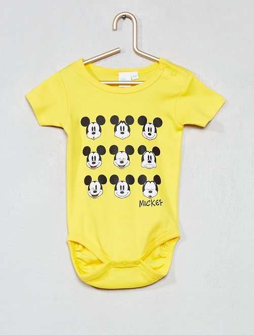 Body estampado 'Mickey'                             amarillo Bebé niño