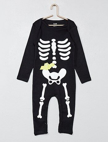 Body largo de esqueleto Halloween - Kiabi