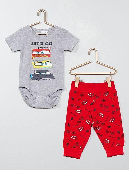 Body + pantalón 'Cars'                             GRIS Bebé niño