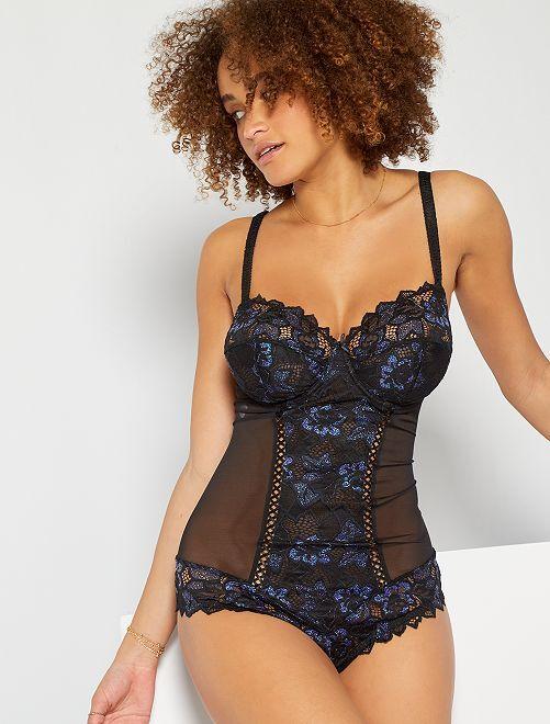 Body 'Sans Complexe'                             negro/azul