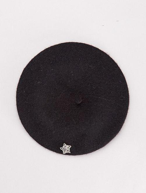 Boina de lana                             negro