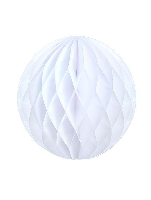 Bola de papel alveolada 12 cm                                                                             blanco