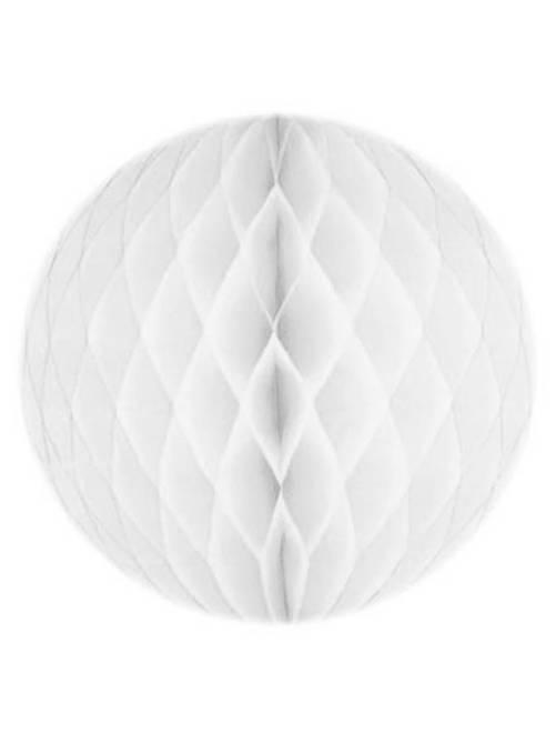 Bola de papel alveolada 20 cm                                                                     blanco