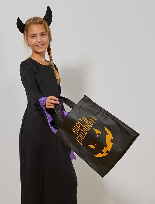 Bolsa de caramelos Halloween                                         negro