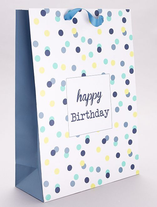 Bolsa de regalo cumpleaños                             azul