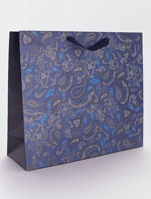 Bolsa de regalo de papel reciclado                             AZUL
