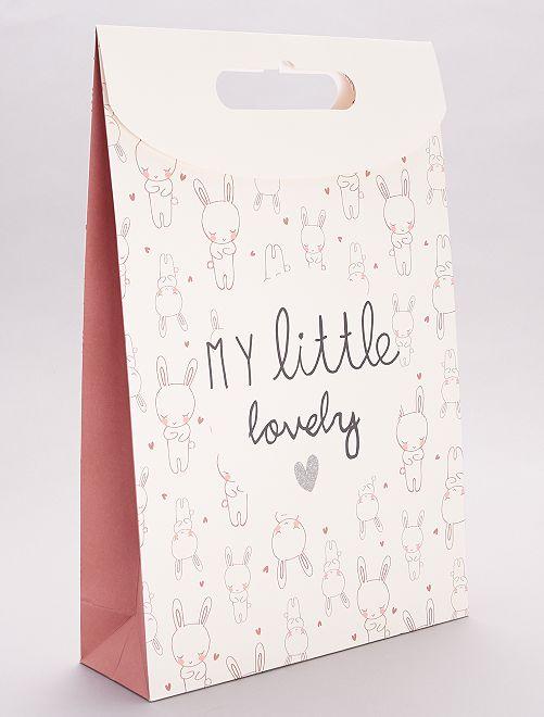 Bolsa de regalo de papel reciclado                                                     conejo