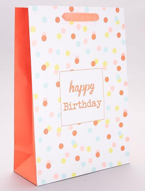 Bolsa de regalo 'Happy birthday'                             multicolor