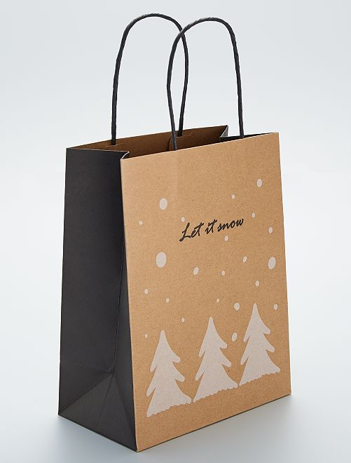 Bolsa de regalo 'Let it snow'                             BEIGE