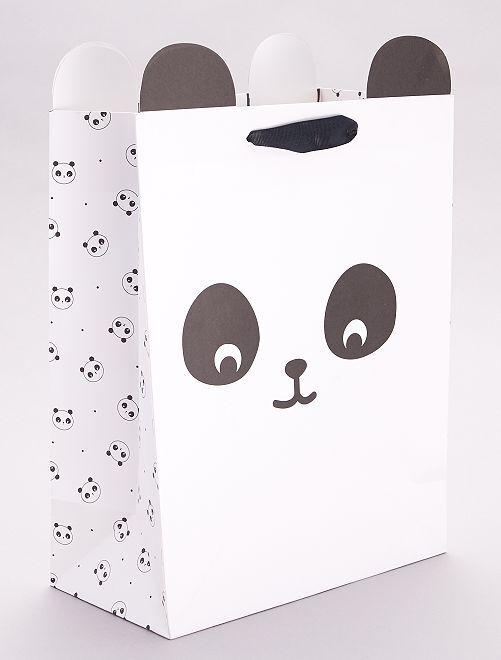 Bolsa de regalo 'oso panda'                                         NEGRO