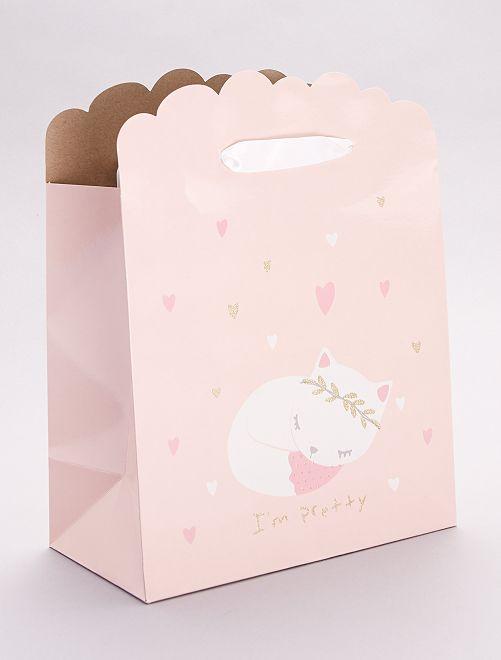 Bolsa de regalo para bebé                                                                 rosa
