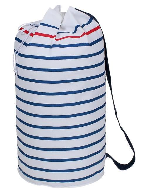 Bolsa para la ropa tipo petate                             blanco/azul Hogar