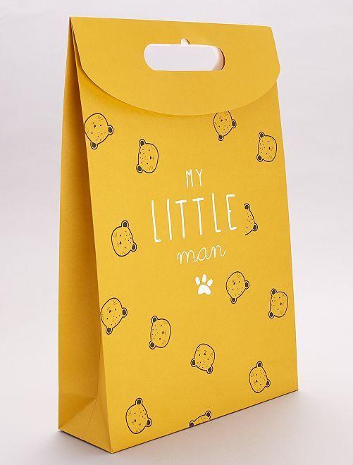 Bolsa regalo de papel reciclado                                                     oso