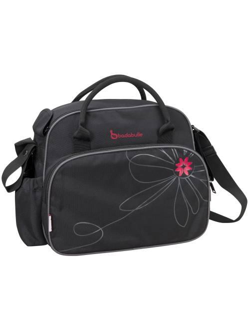 Bolso cambiador + accesorios                                         negro/fucsia