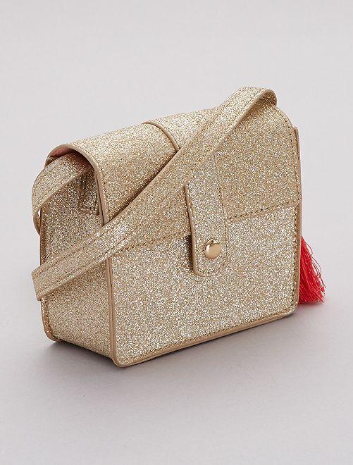 Bolso con bandolera brillante                             oro Chica