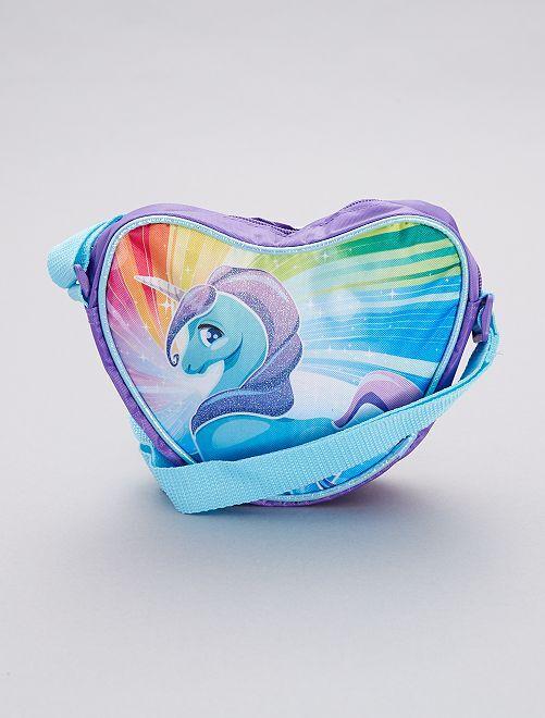 Bolso con forma de corazón 'unicornio'                             azul Chica
