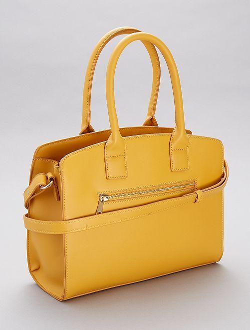 Bolso de material sintético                                         amarillo bronce