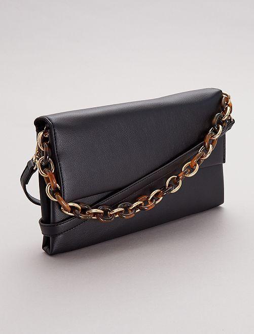 Bolso pequeño con cadena y bandolera                             negro Mujer talla 34 a 48