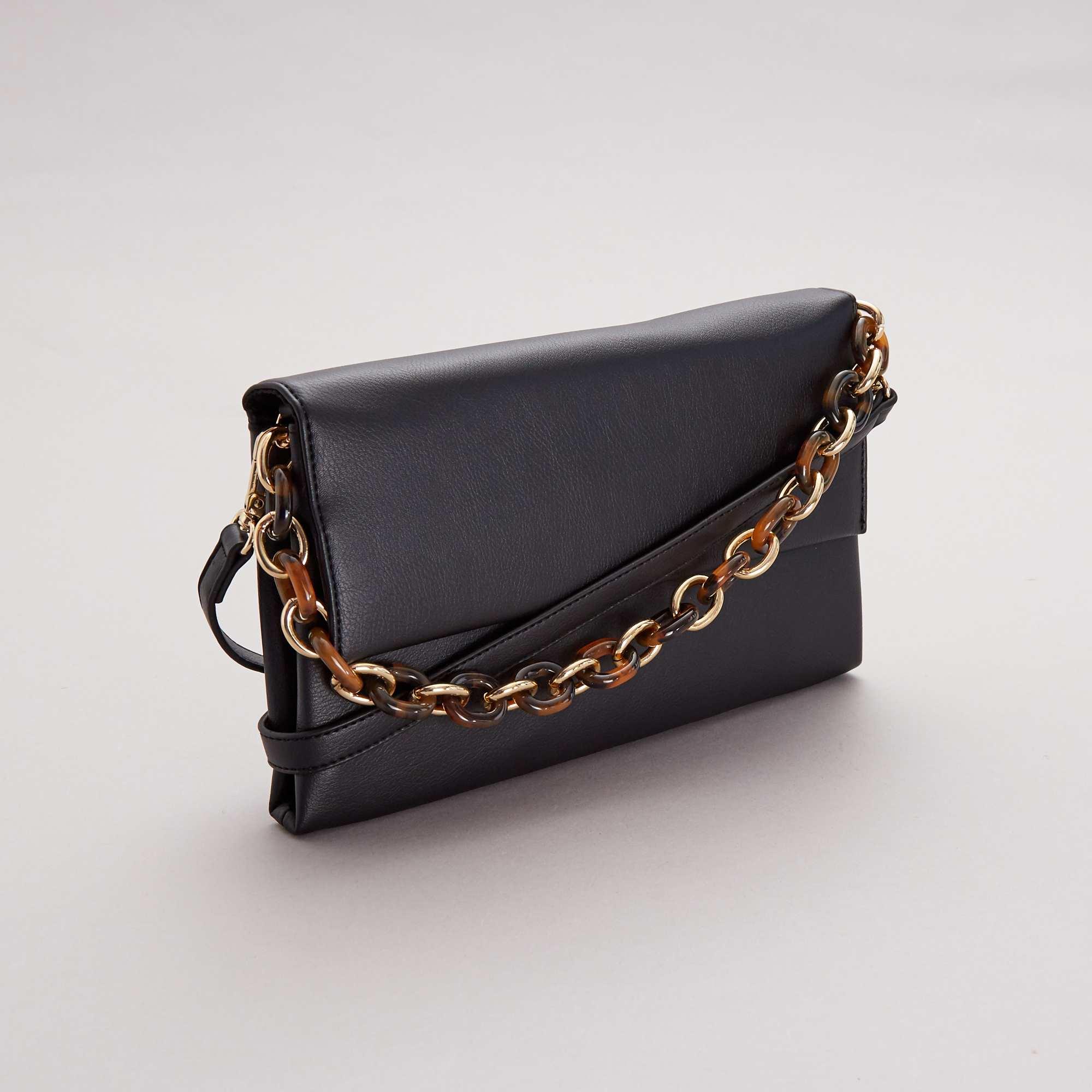 f7558757ce3 Bolso pequeño con cadena y bandolera Mujer talla 34 a 48 - negro ...