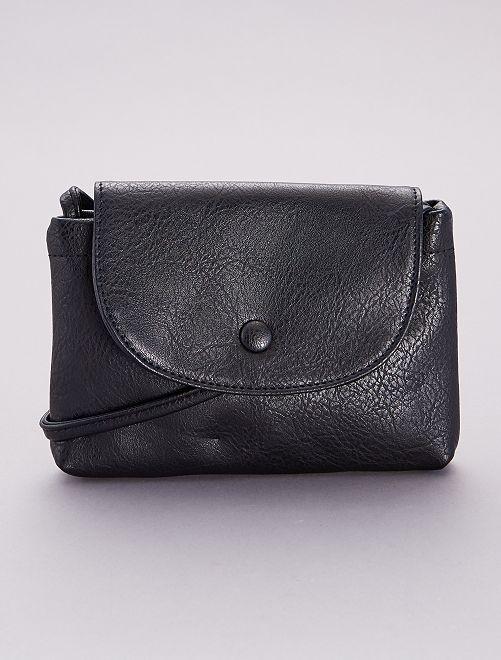 Bolso pequeño de material sintético                             negro