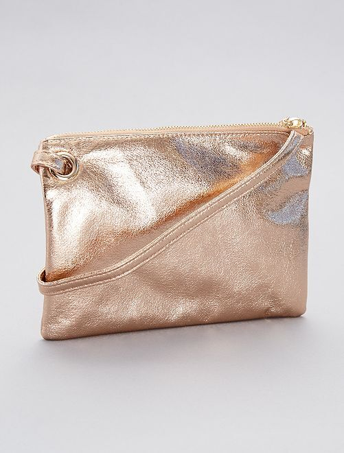 Bolso pequeño irisado                             oro