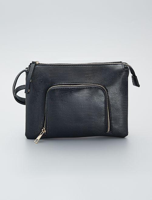 Bolso pequeño texturizado                             negro