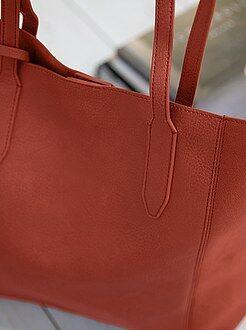 Mujer Bolso shopper de piel sintética + cartera