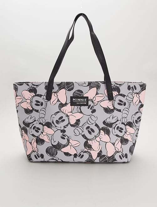 Bolso shopper grande                             gris/rosa