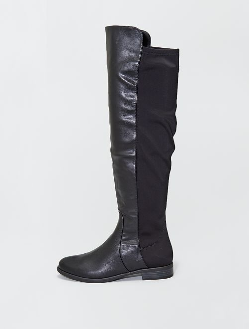 Botas altas                             negro